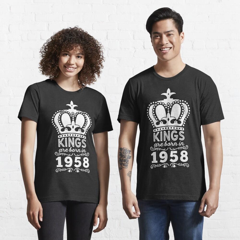 Birthday Boy Shirt - Kings Are Born In 1958 Essential T-Shirt