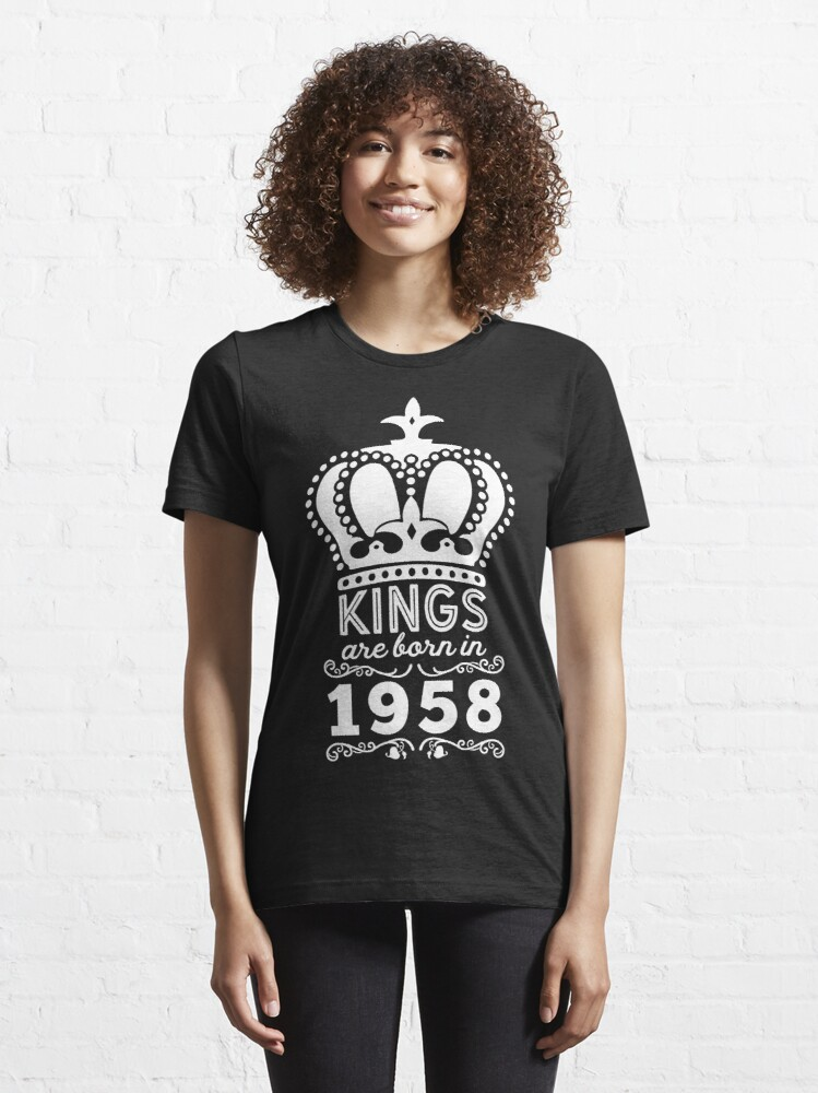 Alternate view of Birthday Boy Shirt - Kings Are Born In 1958 Essential T-Shirt