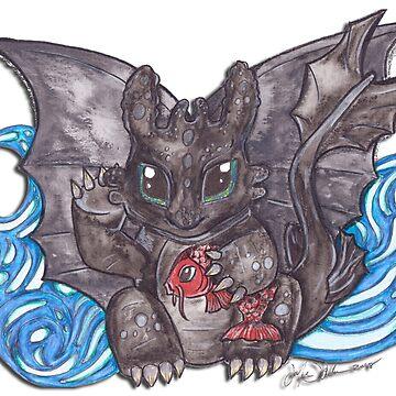 lucky dragon by JenStedmansArt