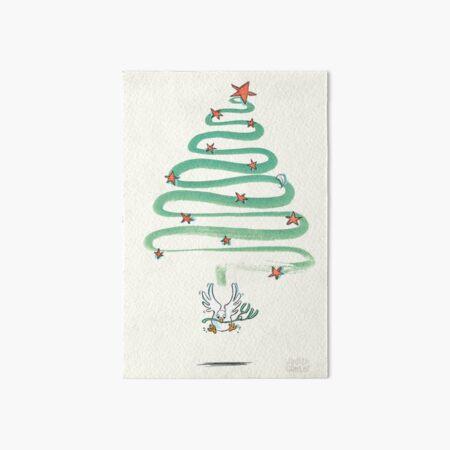 Peace Dove Christmas - bright Art Board Print