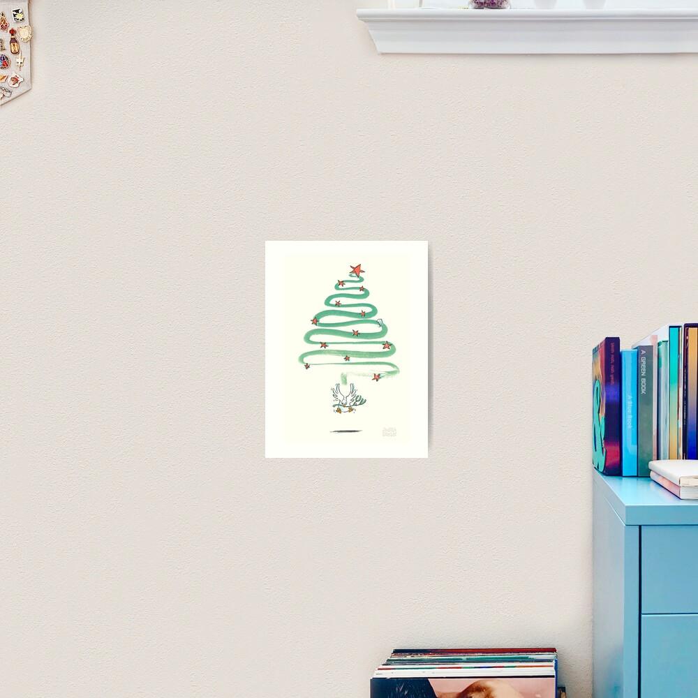 Friedenstaube Weihnachten – hell Kunstdruck