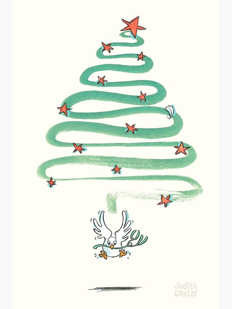 Friedenstaube Weihnachten – hell von JudithGanter