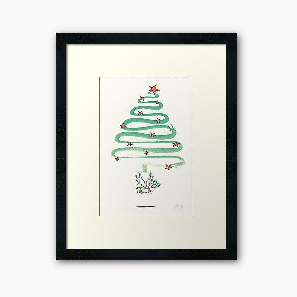 Friedenstaube Weihnachten – hell Gerahmter Kunstdruck
