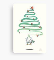 Friedenstaube Weihnachten – hell Leinwanddruck