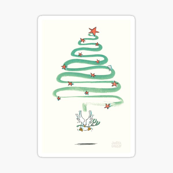 Friedenstaube Weihnachten – hell Sticker
