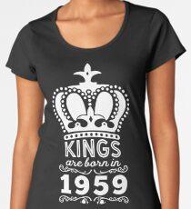 Birthday Boy Shirt - Kings Are Born In 1959 Women's Premium T-Shirt