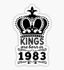 Birthday Boy Shirt - Kings Are Born In 1983 Sticker