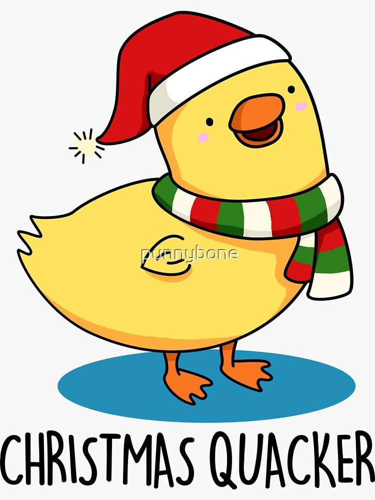 Christmas Quacker Christmas Animal Pun by punnybone