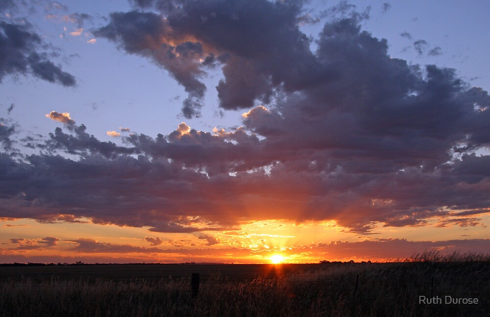 December Sunset near Nhill in the Western Victorian Wheatbelt by Ruth Durose