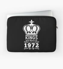 Birthday Boy Shirt - Kings Are Born In 1972 Laptop Sleeve