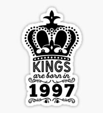 Birthday Boy Shirt - Kings Are Born In 1997 Sticker