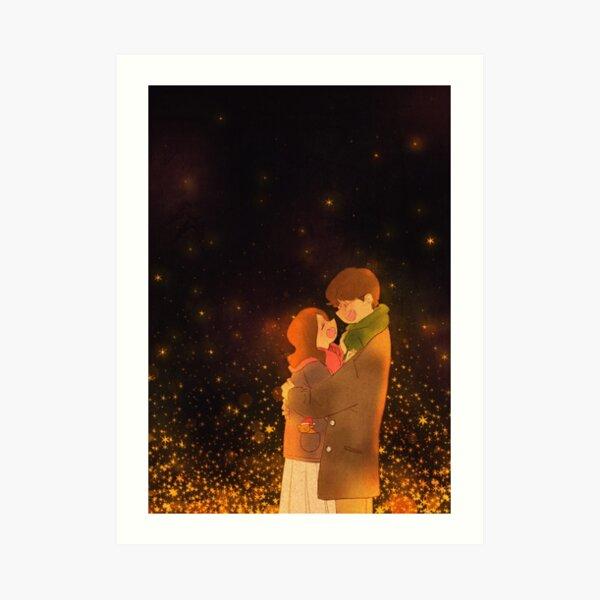 Eine warme Winternacht Kunstdruck