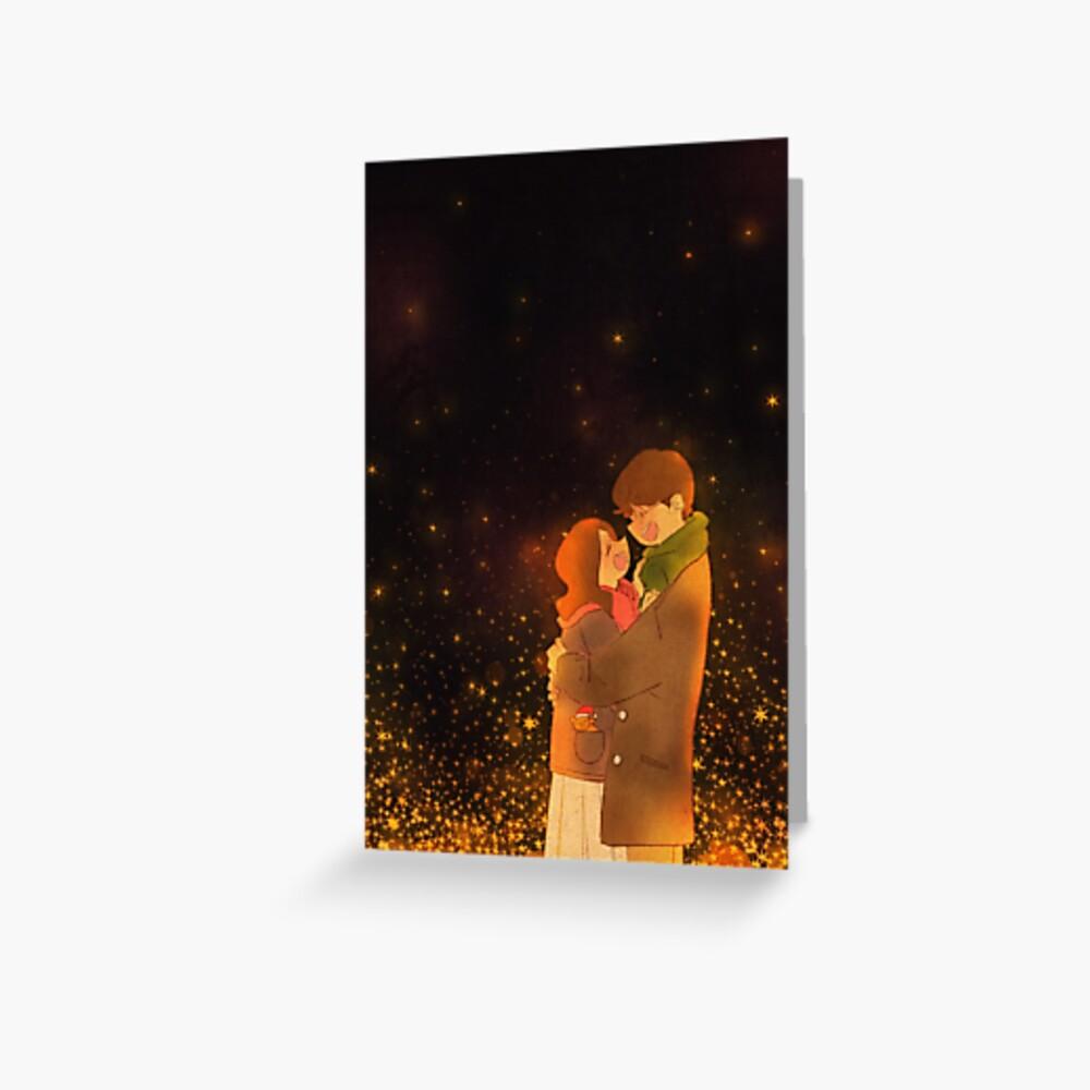 A warm winter night Greeting Card