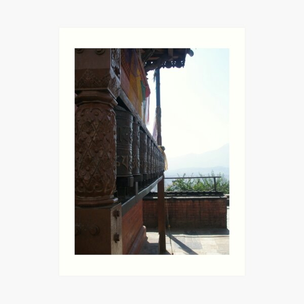 Prayer Wheels - Swayambhunath Art Print