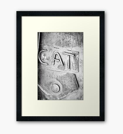 The Metal Cat Framed Print