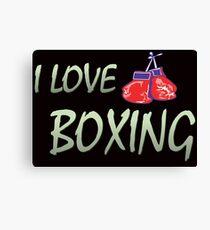 I love boxing Canvas Print