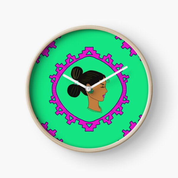 Diné Woman Blooms Clock