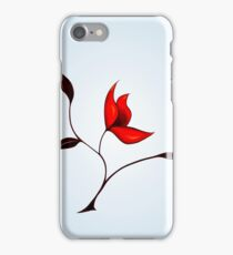 Strange Red Flower iPhone Case/Skin