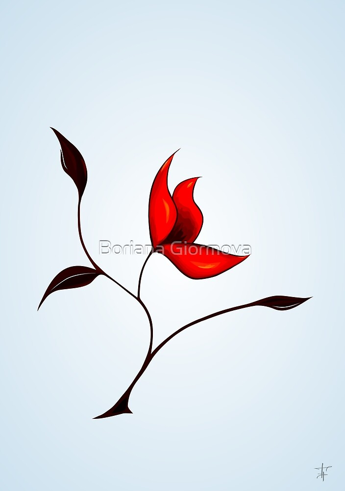 Strange Red Flower by Boriana Giormova