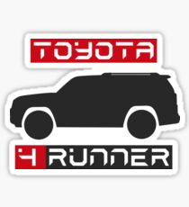4Runner 4x4 side black with words Sticker