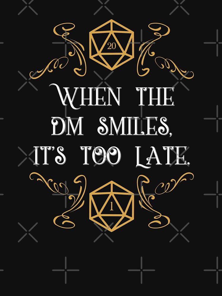 When the Master Smiles It's Too Late 20 Sided Dice by pixeptional