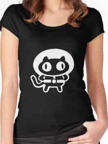 Cookie Cat - Black & White, design only Women's Fitted Scoop T-Shirt