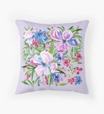 Flores de arte Throw Pillow
