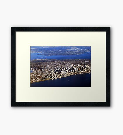 Seattle from Above Framed Print