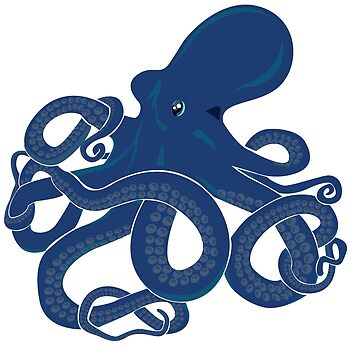 Blue Octopus - Kraken Myth - Tentacles  by ingeniusproduct