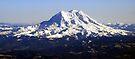 Aerial Panorama of Mount Rainier by Tori Snow