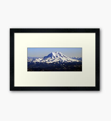 Aerial Panorama of Mount Rainier Framed Print