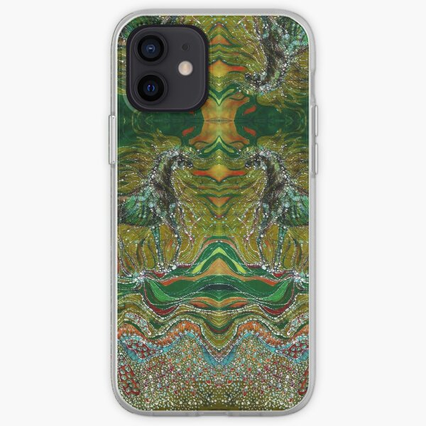 Horse Rises from the Earth and Merges with the Wind iPhone Soft Case