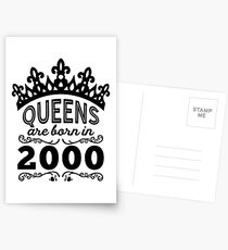 Birthday Girl Shirt - Queens Are Born In 2000 Postcards