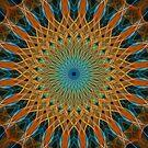 Mandala in blue and orange tones by JBlaminsky