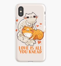 Cute Cats - Love is all you knead  iPhone XS Case