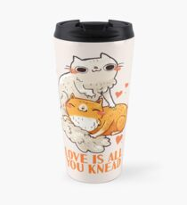 Cute Cats - Love is all you knead  Travel Mug
