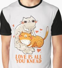 Cute Cats - Love is all you knead  Graphic T-Shirt