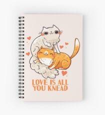 Cute Cats - Love is all you knead  Spiral Notebook