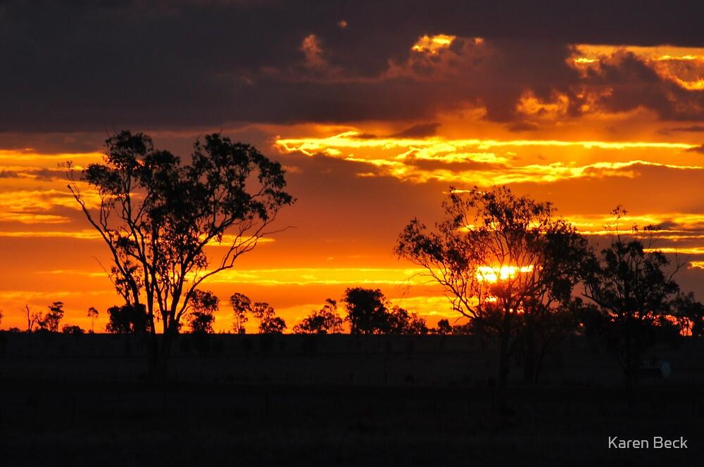 Sunset  Roma Queensland by Karen Beck