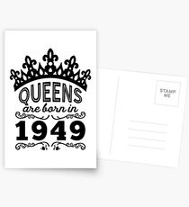 Birthday Girl Shirt - Queens Are Born In 1949 Postcards