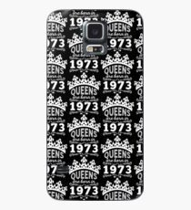 Birthday Girl Shirt - Queens Are Born In 1973 Case/Skin for Samsung Galaxy