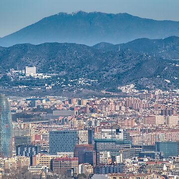 Aerial View Barcelona City, Spain by DFLCreative
