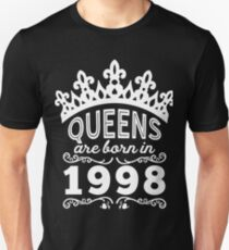 Birthday Girl Shirt - Queens Are Born In 1998 Unisex T-Shirt