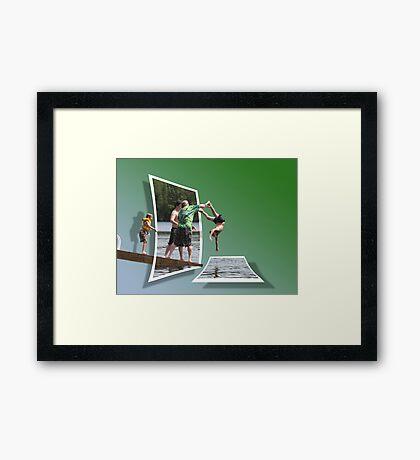 Lake Plunge OOB Framed Print