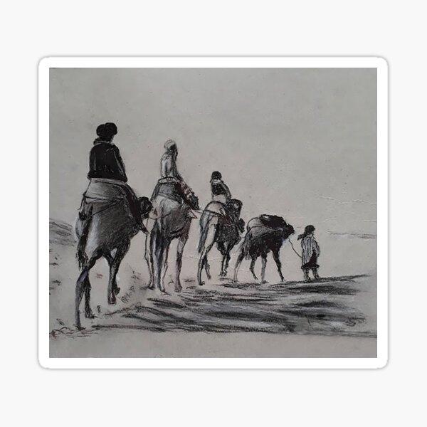camel row Sticker
