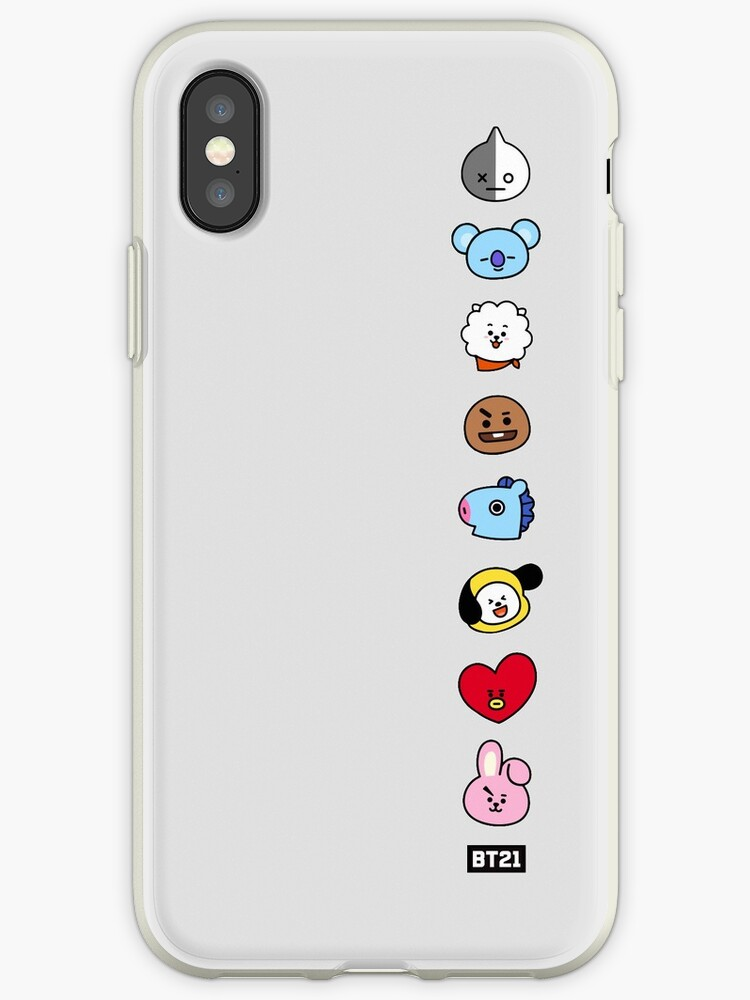 quality design 88f31 78b9e 'BTS BT21 Faces' iPhone Case by oohfluff