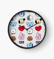 BTS BT21 Faces Clock