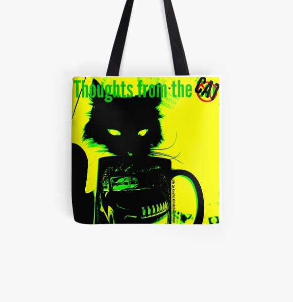 Thoughts from the Cat All Over Print Tote Bag