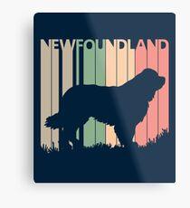 Newfoundland Dog Silhouette Metal Print