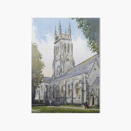 St Mary's parish church, Torquay Art Board Print
